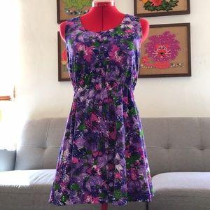VINTAGE Handmade purple dress